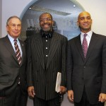 Mayor Michael Bloomberg, Kojo Nnamdi, and Mayor Adrian Fenty