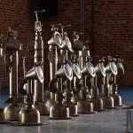 Sculpted Metal Chess Set