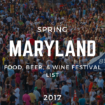 Maryland Spring Food, Beer & Wine Festival List