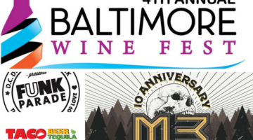 Upcoming Festivals: Funk Parade, Baltimore Food & Wine Festival, M3 Rock Festival & More!